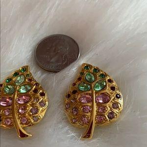 Kenneth Jay Lane Jewelry - Vintage K.J.L. Leaf Earrings